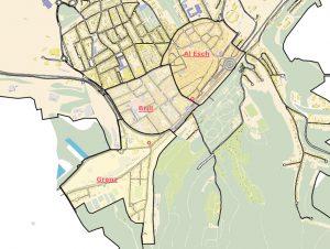 Plan des quartiers